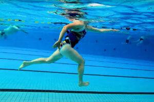 Langlaufpas bij hardlopen in het water - aquarunning